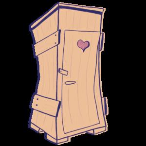 Symbol Toaleta Haziel - gra karciana QKaj