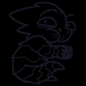 Squami je ciasteczka  - Grafika szyszkowiec mały